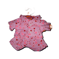 "8"" Mini Pink Heart Pajamas"
