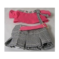 "8"" Mini Pink Checkered Skirt"