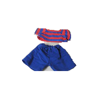 8: Mini Blue & Red Short Set