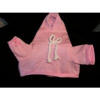 Hooded Sweatshirt Pink 15 inch