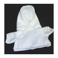 Mini White Hooded Sweatshirt 8""