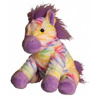 "Cuddles Colorful Zebra (10"")"