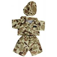 "Cuddles Desert Army Outfit (16"")"